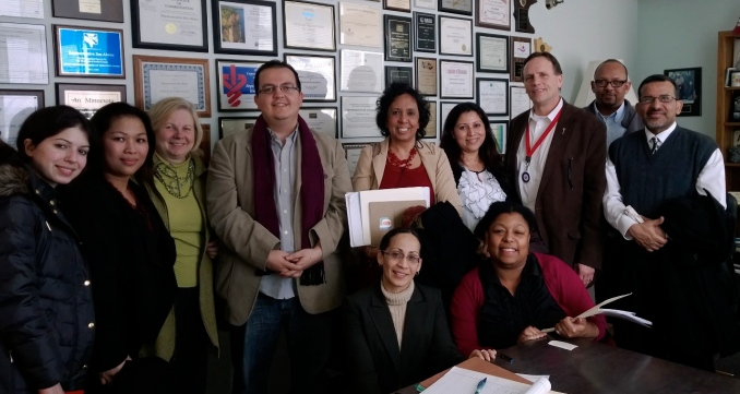 Foreign trained physicians meet with legislators at the Capitol to advocate for change.